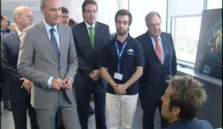 El Presidente de la Generalitat visita Sofistic durante la inauguración del edificio Espaitec 2 en la UJI